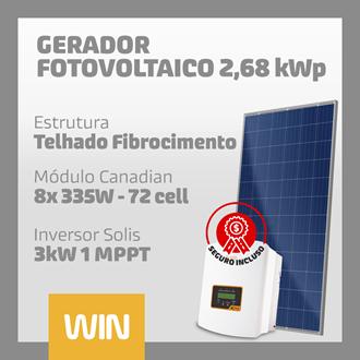 Imagem de GERADOR SOLAR FV WIN - 2,68 kWp - FIBROCIMENTO