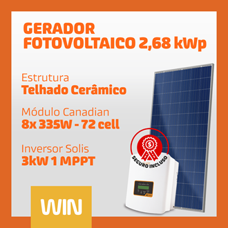 Imagem de GERADOR SOLAR FV WIN - 2,68 kWp - CERÂMICO