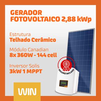 Imagem de GERADOR SOLAR FV WIN - 2,88 kWp - CERÂMICO