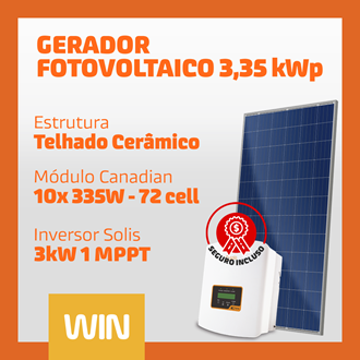 Imagem de GERADOR SOLAR FV WIN - 3,35 kWp - CERÂMICO
