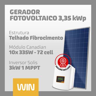 Imagem de GERADOR SOLAR FV WIN - 3,35 kWp - FIBROCIMENTO