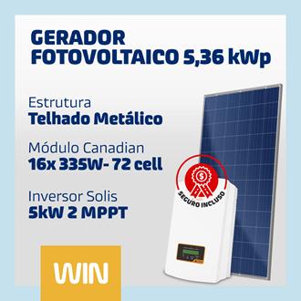 Imagem de GERADOR SOLAR FV WIN - 5,36 kWp - METÁLICO