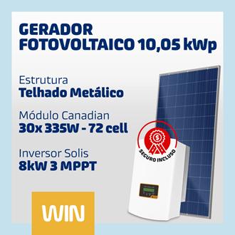 Imagem de GERADOR SOLAR FV WIN - 10,05 KWP - METÁLICO