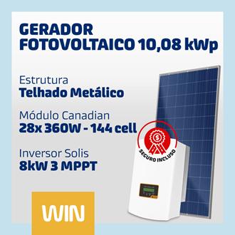 Imagem de GERADOR SOLAR FV WIN - 10,08 KWP - METÁLICO