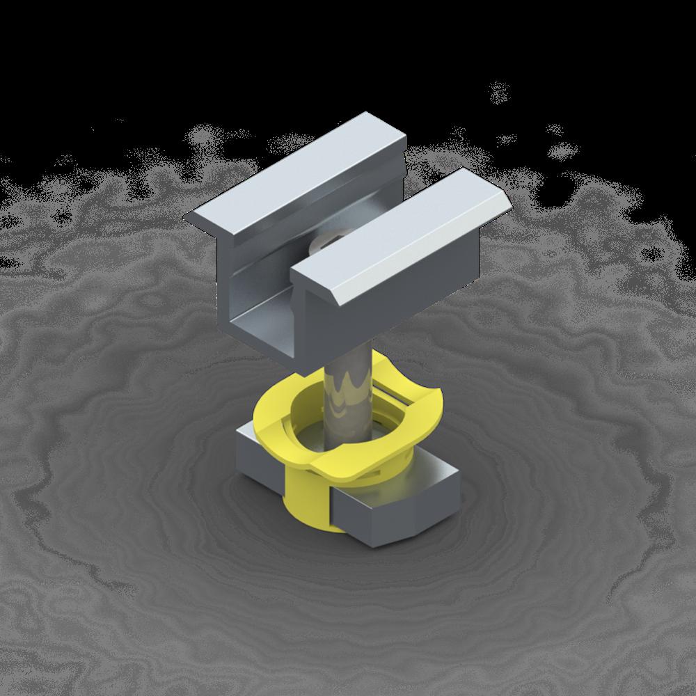 imagem de Kit Metalico Tritec - Perfil 100mm com Acessorios para 4 Modulos