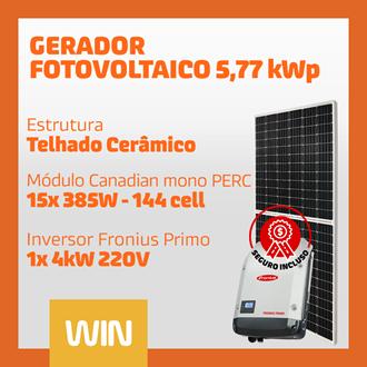 Imagem de GERADOR SOLAR FV WIN - 5,77 KWP - CERÂMICO