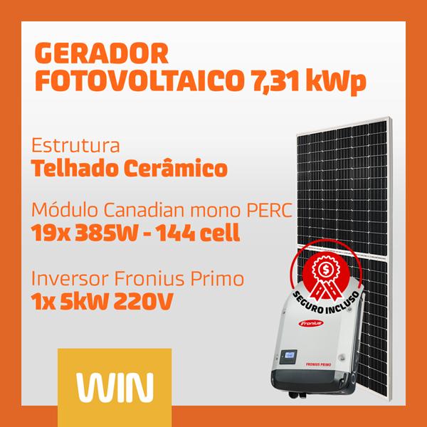 imagem de GERADOR SOLAR FV WIN - 7,31 KWP - CERÂMICO