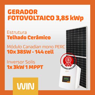 Imagem de GERADOR SOLAR FV WIN - 3,85 KWP - CERÂMICO