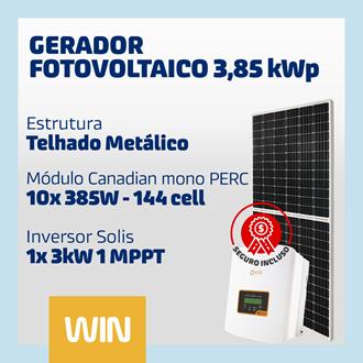 Imagem de GERADOR SOLAR FV WIN - 3,85 KWP - METÁLICO