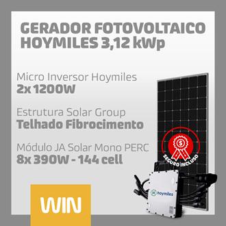 Imagem de GERADOR SOLAR FV WIN - 3,12 KWP - FIBROCIMENTO