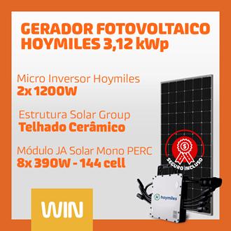 Imagem de GERADOR SOLAR FV WIN - 3,12 KWP - CERAMICO