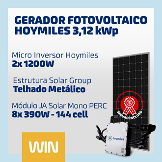 Imagem de GERADOR SOLAR FV WIN - 3,12 KWP - METALICO