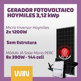 Imagem de GERADOR SOLAR FV WIN - 3,12 KWP - SEM ESTRUTURA