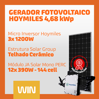 Imagem de GERADOR SOLAR FV WIN - 4,68 KWP - CERAMICO