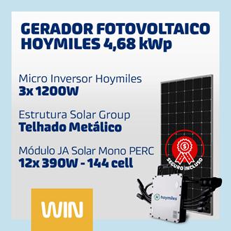 Imagem de GERADOR SOLAR FV WIN - 4,68 KWP - METÁLICO