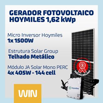 Imagem de GERADOR SOLAR FV WIN - 1,62 KWP - METALICO