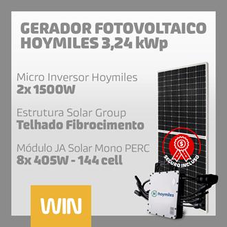Imagem de GERADOR SOLAR FV WIN - 3,24 KWP - FIBROCIMENTO