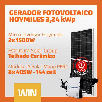 Imagem de GERADOR SOLAR FV WIN - 3,24 KWP - CERAMICO