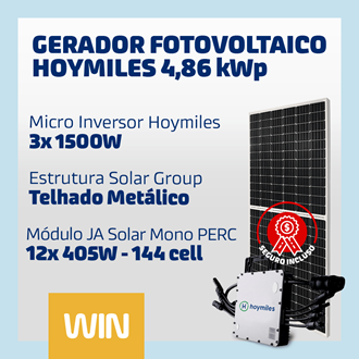 Imagem de GERADOR SOLAR FV WIN - 4,86 KWP - METALICO