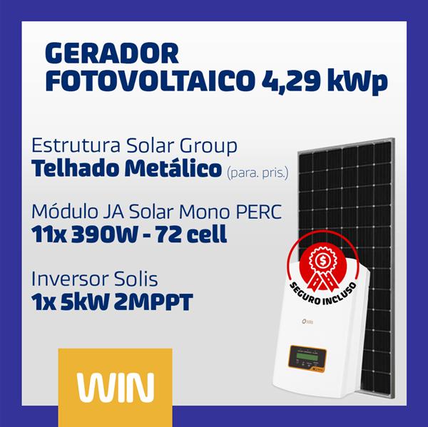 imagem de GERADOR SOLAR FV WIN - 4,29 KWP - METÁLICO