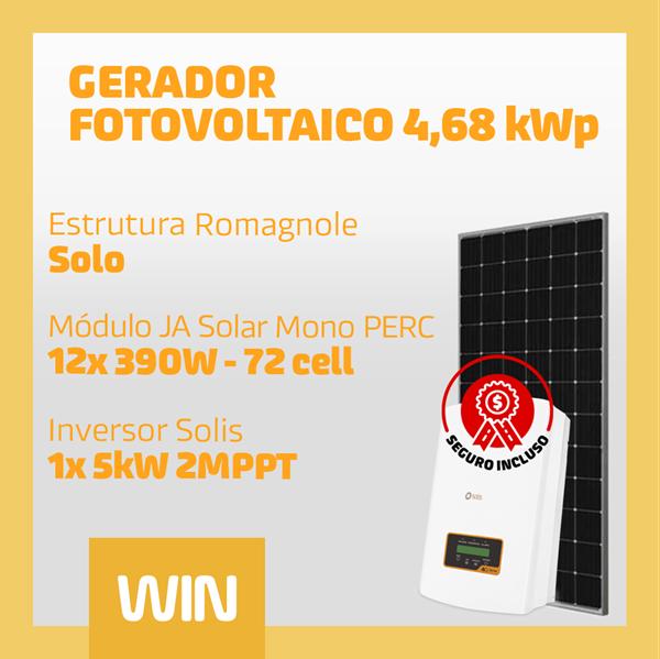 imagem de GERADOR SOLAR FV WIN - 4,68 KWP - SOLO