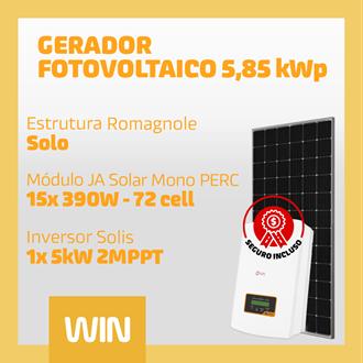 Imagem de GERADOR SOLAR FV WIN - 5,85 KWP - SOLO