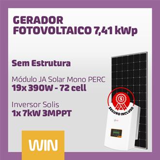 Imagem de GERADOR SOLAR FV WIN - 7,41 KWP - SEM ESTRUTURA