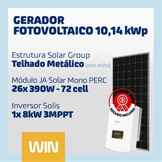 Imagem de GERADOR SOLAR FV WIN - 10,14 KWP - METALICO