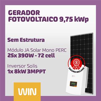 Imagem de GERADOR SOLAR FV WIN -9,75 KWP - SEM ESTRUTURA