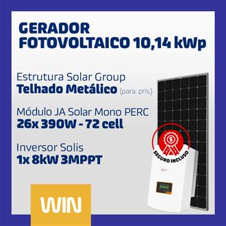 Imagem de GERADOR SOLAR FV WIN - 10,14KWP - METALICO