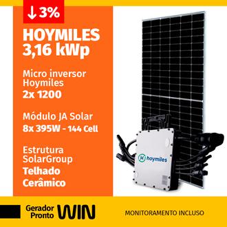 Imagem de GERADOR DE ENERGIA SOLAR 3,16KWP HOYMILES CERAMICO WIN